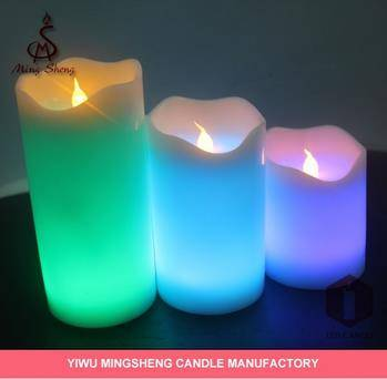 3pcs 7color wick flameless led candle