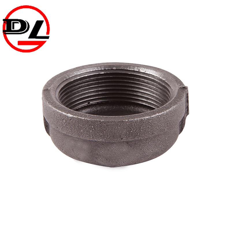 galvanized and black gmalleable iron pipe fitting pipe cap