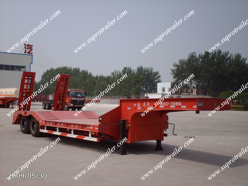 80 tons trailer, low bed trailer, 100 tons trailer
