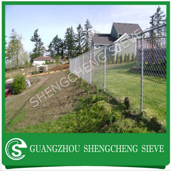 Security residential fencing galvanized steel diamond mesh chain wire mesh hot sale