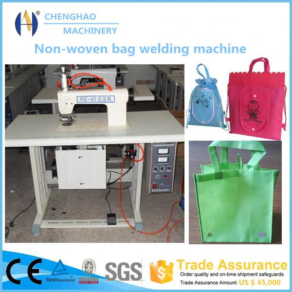 Ultrasonic lace machine for non-woven bag making