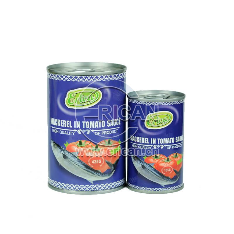 Factory price Canned Fish Tin Mackerel in Tomato Sauce 155g/425g