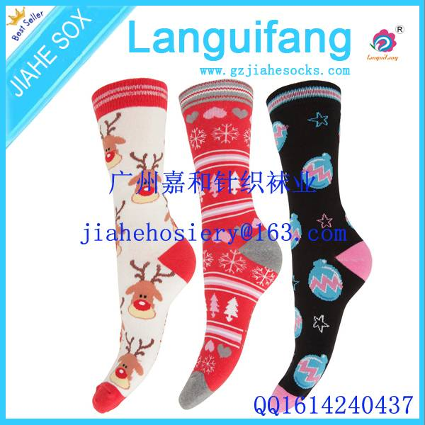 custom soft warm cotton christmas indoor socks