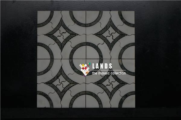 Water Jet Marble Mosaic Tiles LSWJ001