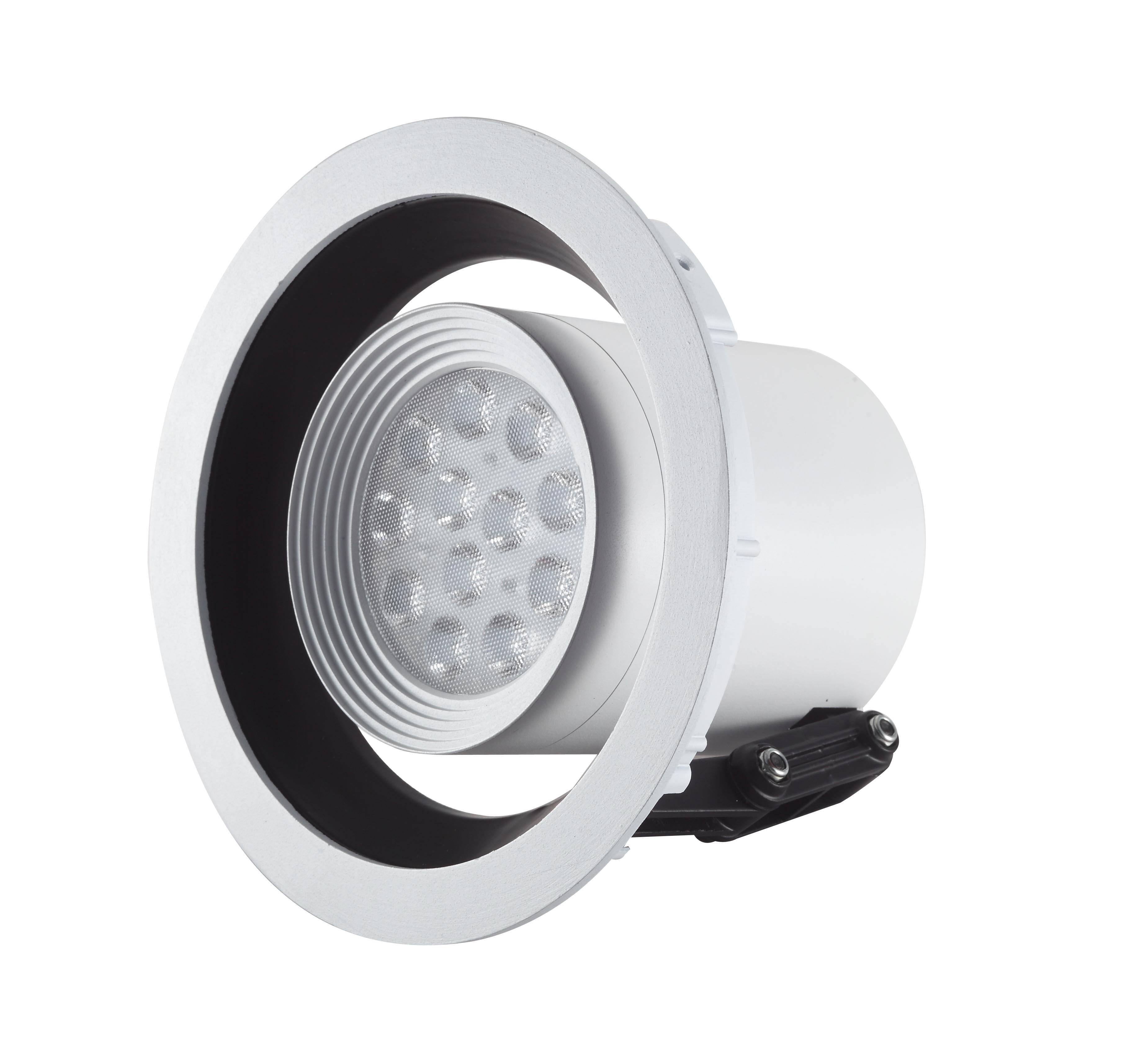 LED recessed downligh 25W   with lens 12  LED chips