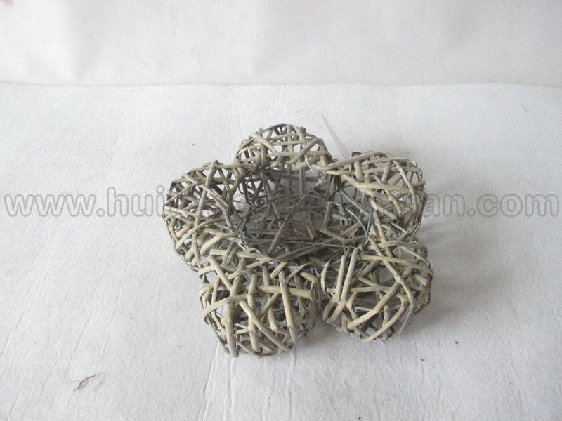 flower shape wall hanging willow decoration product