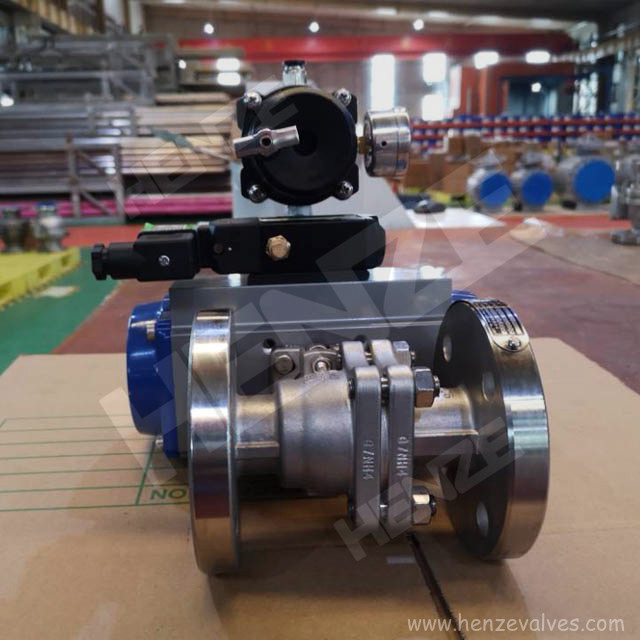 Pneumatic Actuated Floating Ball Valve