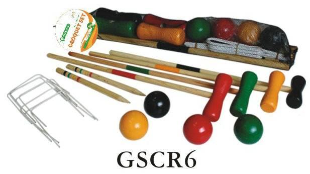 wooden game croquet set
