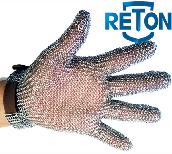 oyster chain mail stainless steel mesh glove