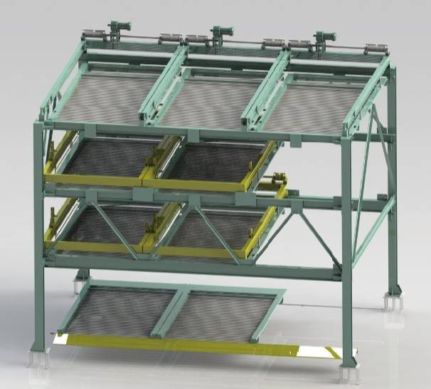 4-layer Horizontal shifting mechanical parking system PSH-4