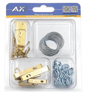 42PCS Hooks, Nail & Hanger Kit