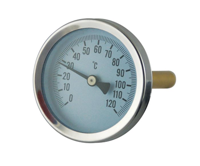 Economic HVAC bimetal thermometer with themowell