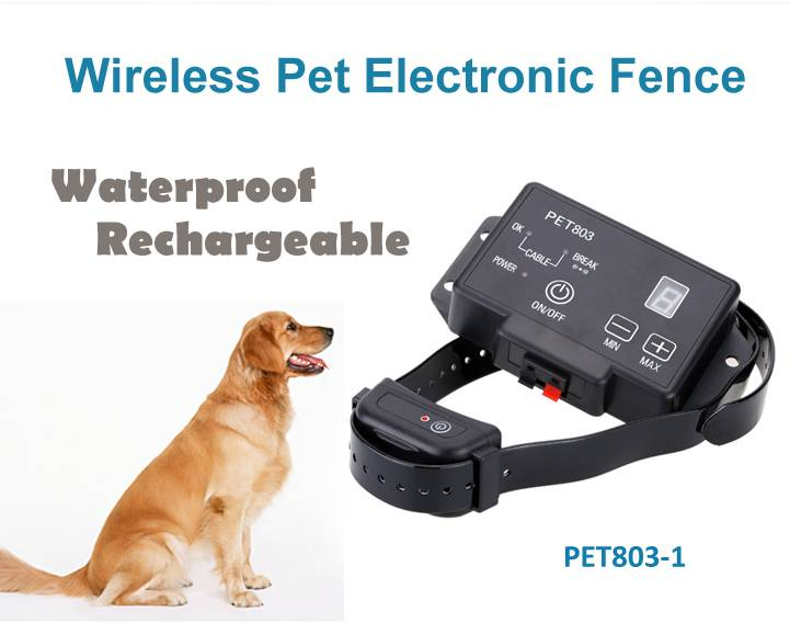 Rechargeable Waterproof Invisible Underground Electronic Dog Fence System PET803 Dog Training Collar