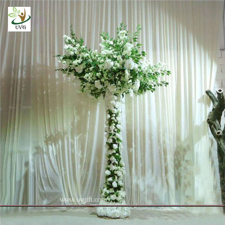 UVG CHR113 Artificial cherry and hydrangea wedding table tree centerpieces for wedding decoration