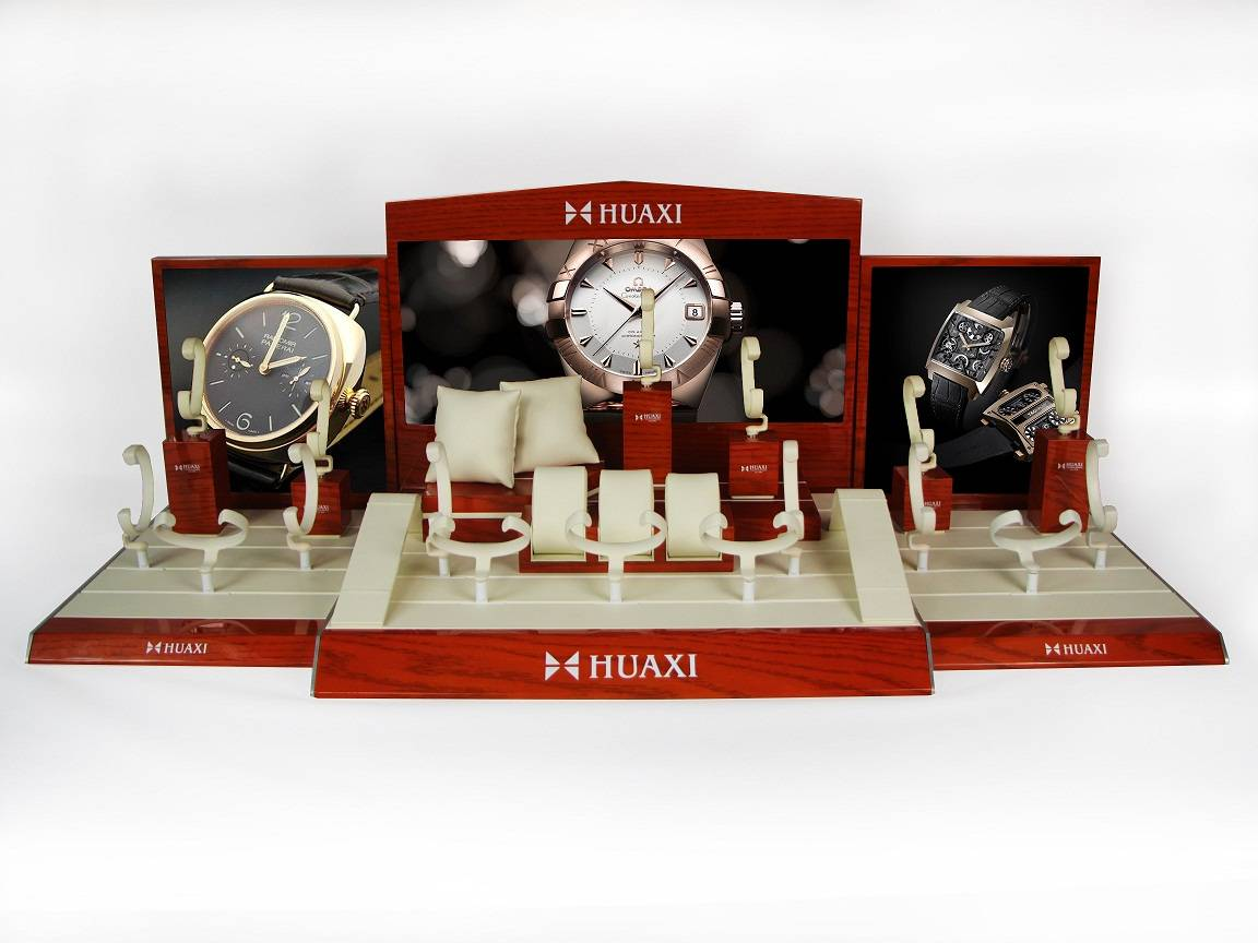 High Glossy Wooden Watch Display