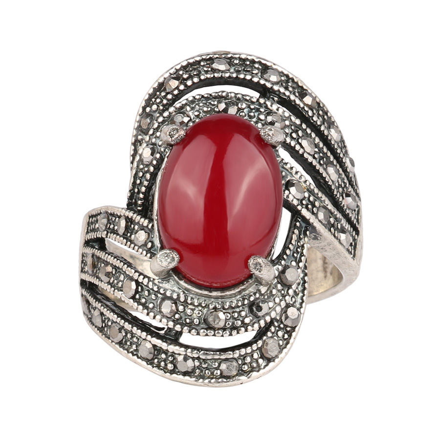 Christmas gifts alloy jewelry ladies fashion ring gem