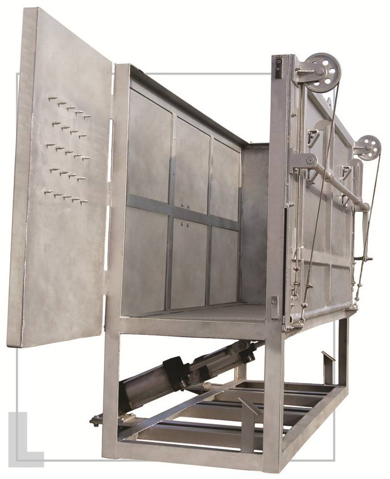Cattle slaughtering Equipment: Living Cattle Pneumatic Reversed Box