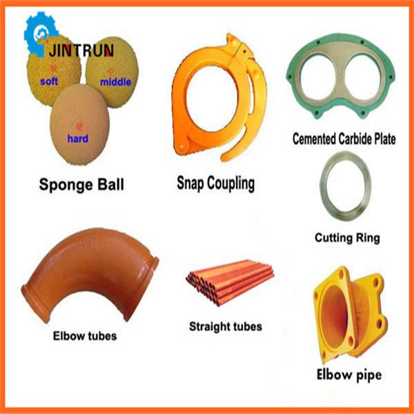 High quality concrete pump accessories/cleaning balls/pipes/hoses
