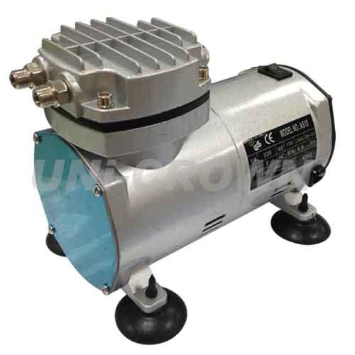 UN-25P AC110V or 220V 4 bar Portable silent mini dry vacuum pump air compressor