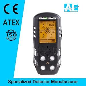 IP66 CE ATEX Certified Portable Multi Gas Detector
