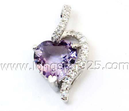 Custom Silver Jewelry Big Stone Fashion Pendants