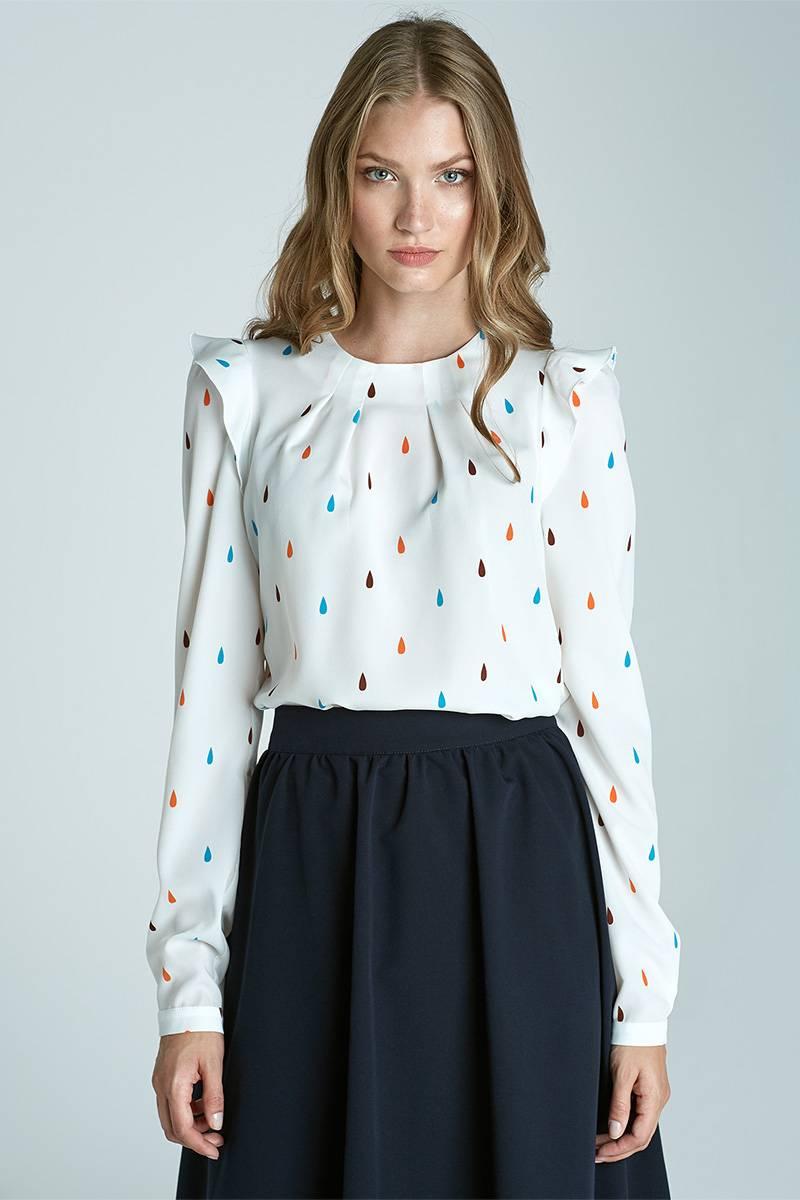 Long sleeve blouse - tears pattern