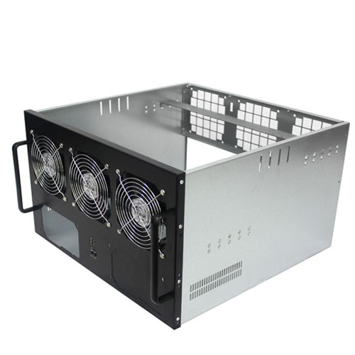 6u miner rig case universal type for motherboard Coin mining machine motherboard atx power