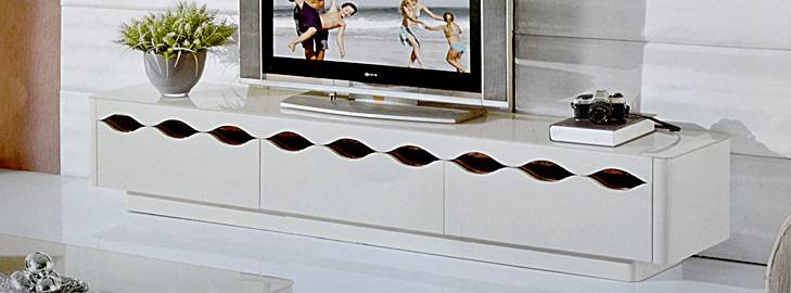 New Design & extendable tempered glass tv cabinets