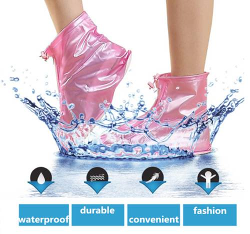 Durable waterproof convenient fashion portable rain boots