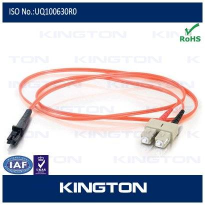 SC-MTRJ fiber optic patch cord with Single mode with pvc.lszh type and Factory price