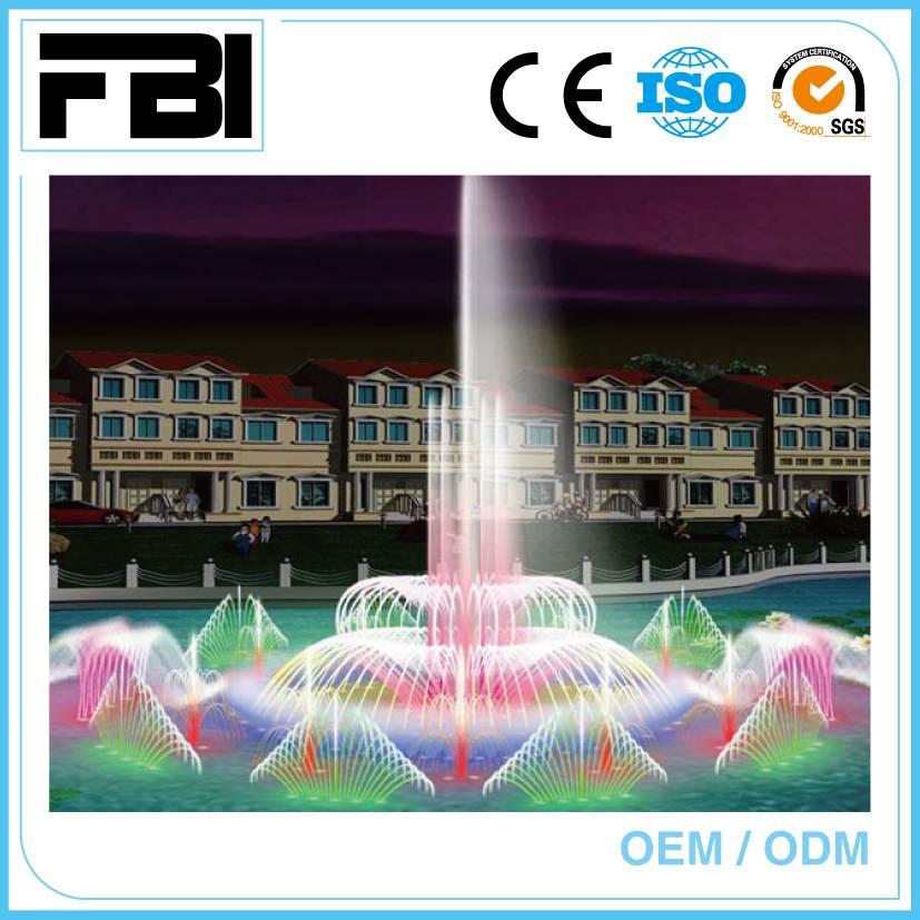 large lake fountain, dancing music fountain, customized design