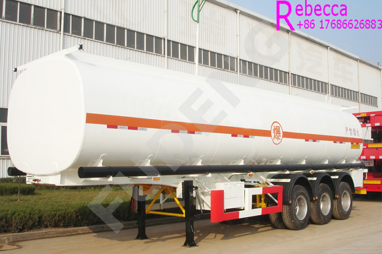 High quality combustible oil transport tanker truck fuel tank semi trailer for sale