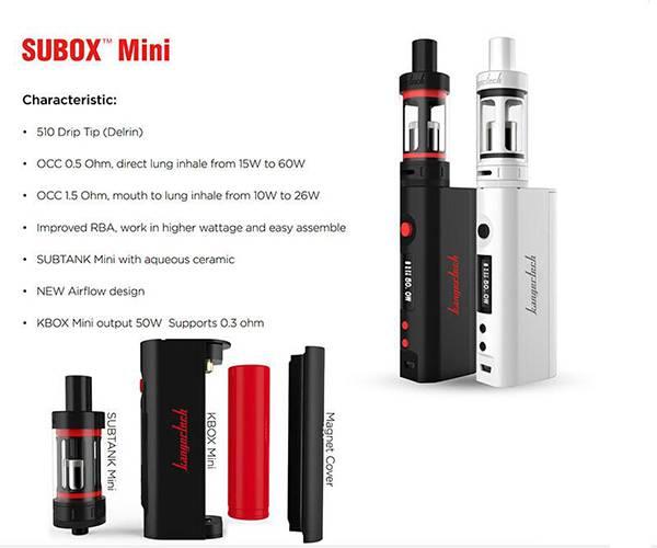 Original Kanger Subox Mini Starter Kit Hot E Cig kit 50W OCC RBA Coil Subtank Mini Kbox Mini 50w E C