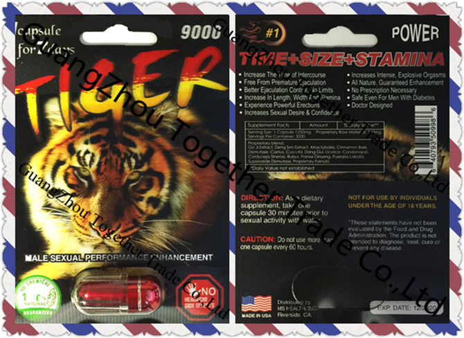 Tiger Extreme 9000 Platinum Male Sexual Enhancer Capsule GENUINE