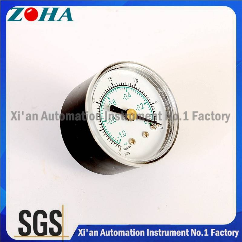 Vacuum Pressure Gauge -1bar~0/ -30inhg~0 Double Scale ABS ASA Case