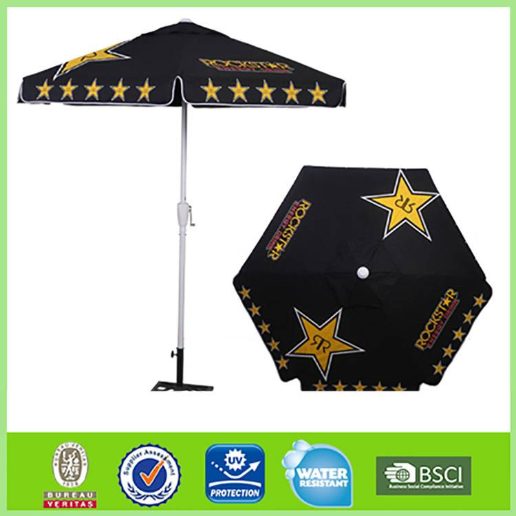 Market Umbrella with Crank Lift and Auto Tilt 7'-11' promotional Umbrella