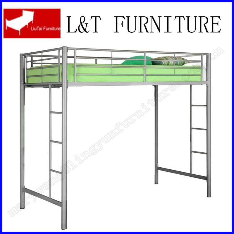 sliver color mid-sleeper bunk bed for kids