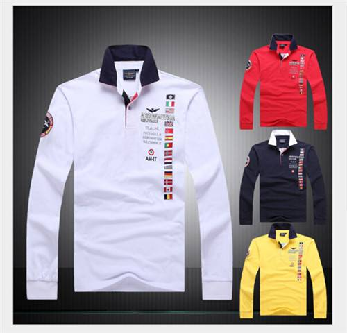 Men's classic embroidered long-sleeved cotton long sleeve T-shirt