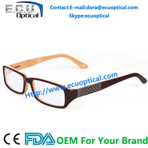 Brand new style Korean Unisex acetate full sample glasses fashion spectacles china optical frames fa