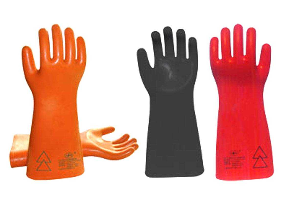 workman rubber electrical safety gloves