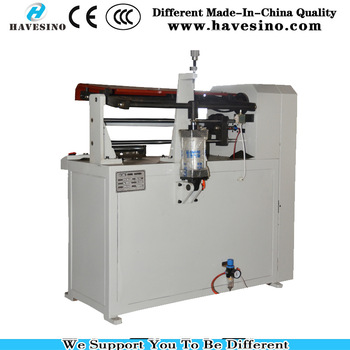 barcode ribbon paper tube cutter machine