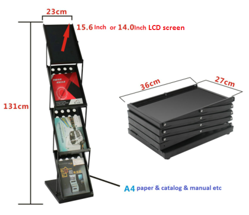 15.6inch electronic display lcd totem