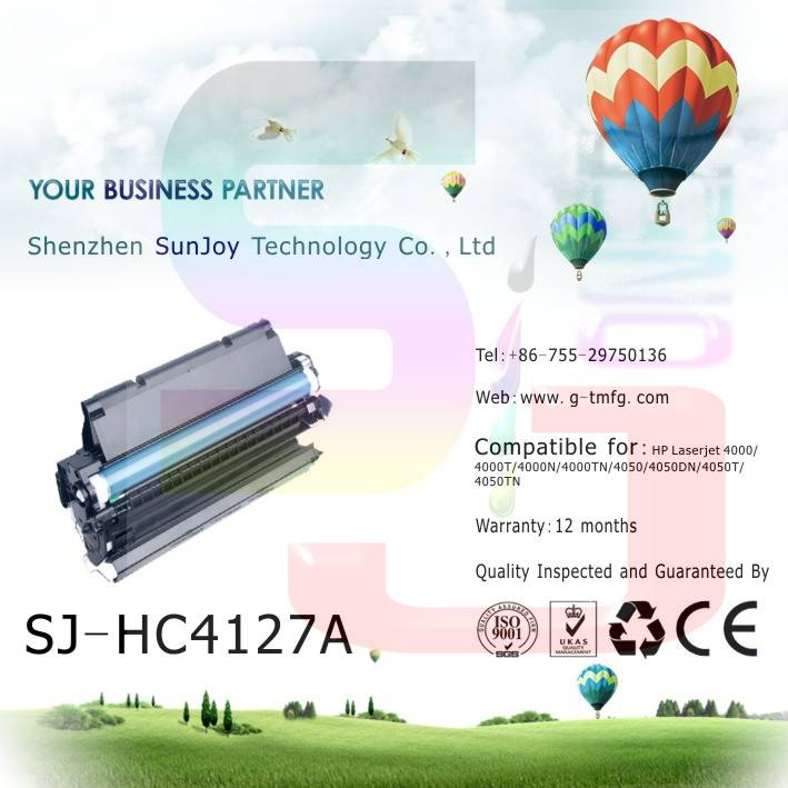 Sunjoy 27X toner cartridge C4127X compatible for HP Laserjet  HP LaserJet 4000T 4000TN 4050 4050N