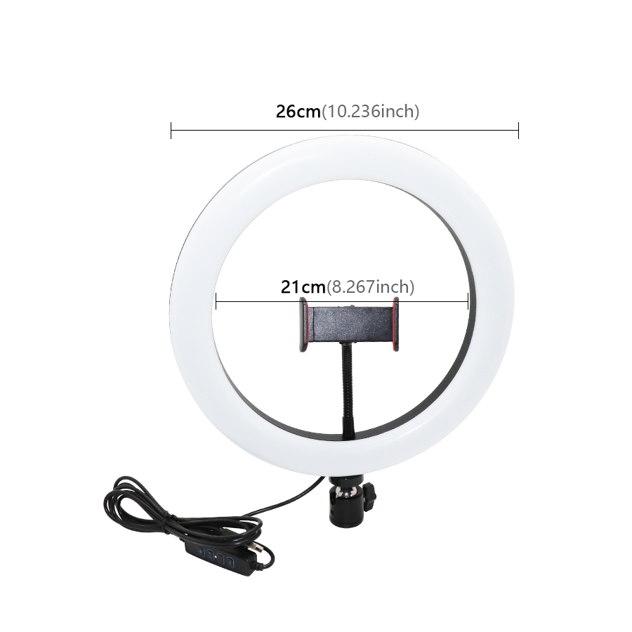 Amazon Hot Selling 10 inch selfie led ring light with cell phone holder beauty for Live Stream