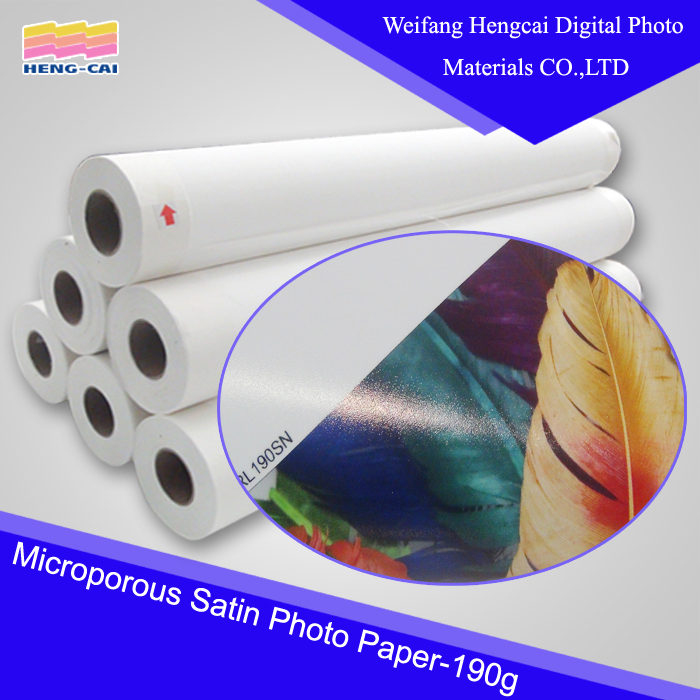 190gsm resin coated satin Photo Paper digital printing material