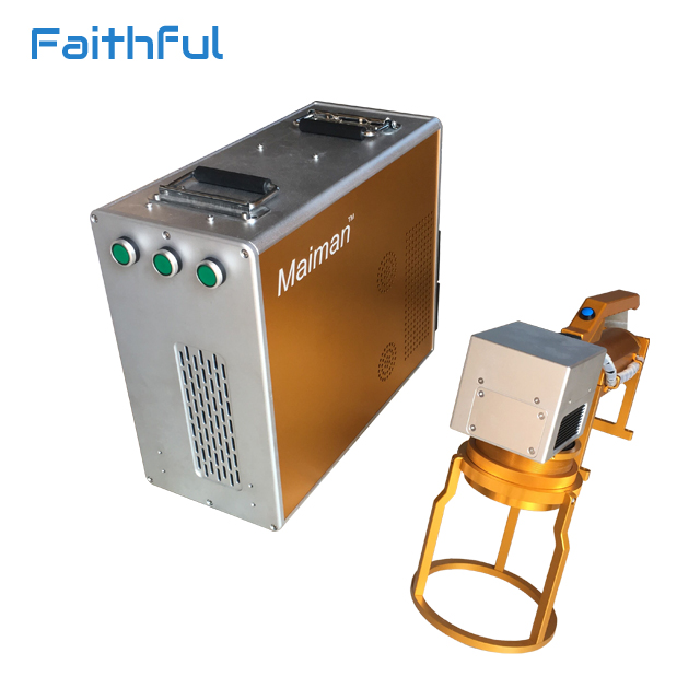 Animal ear tag handheld fiber laser marking machine for metal