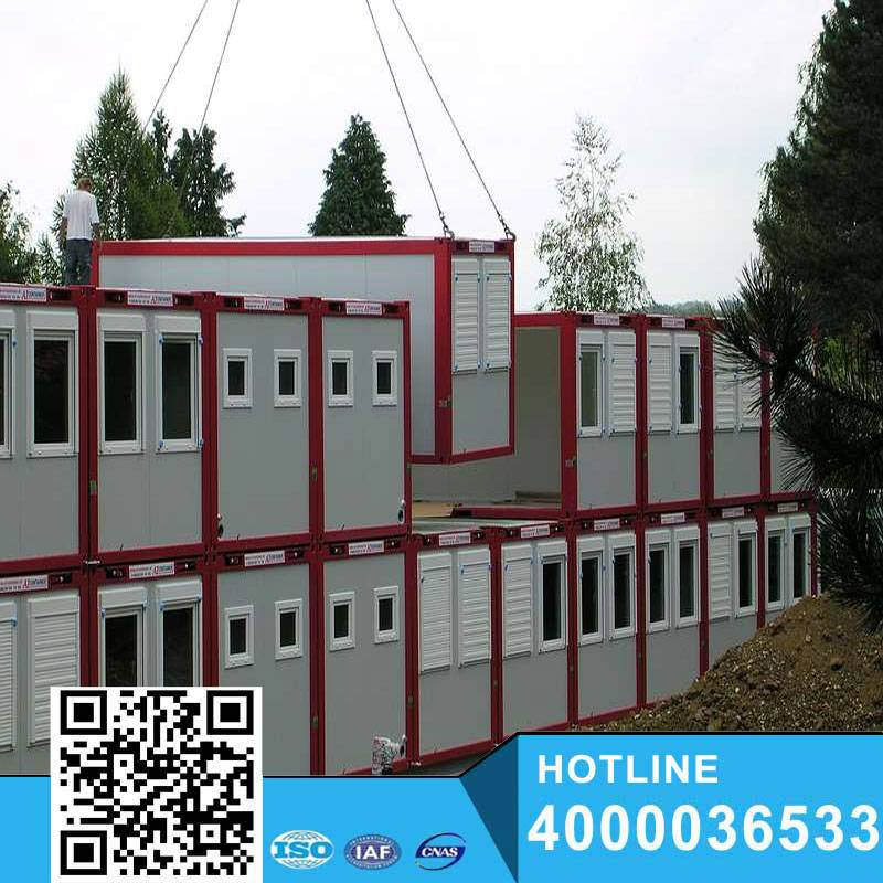 Living foldable and expandable prefab container house