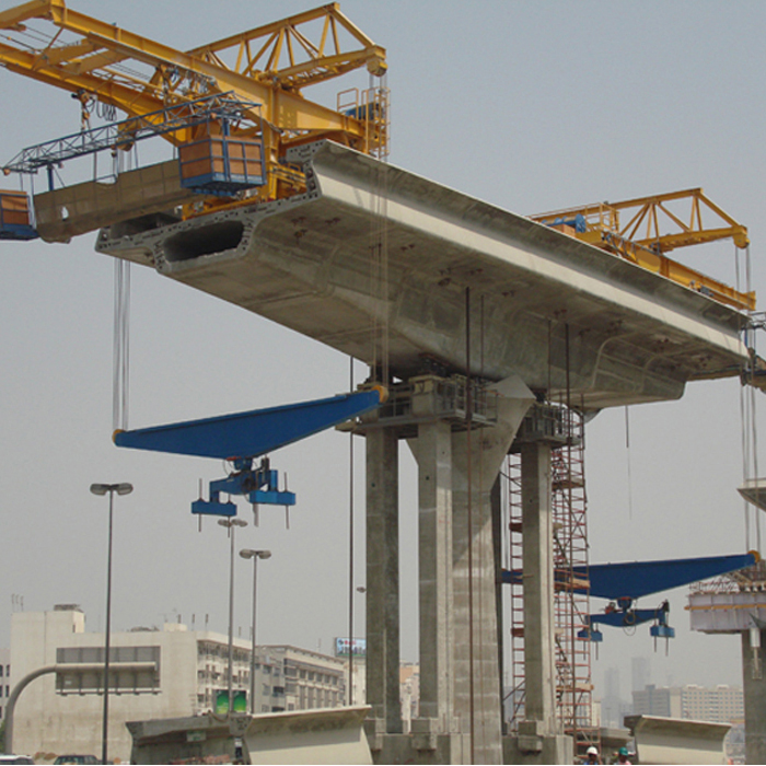 drawing customized 300 ton precast highway deck erection gantry used balanced cantilever method for