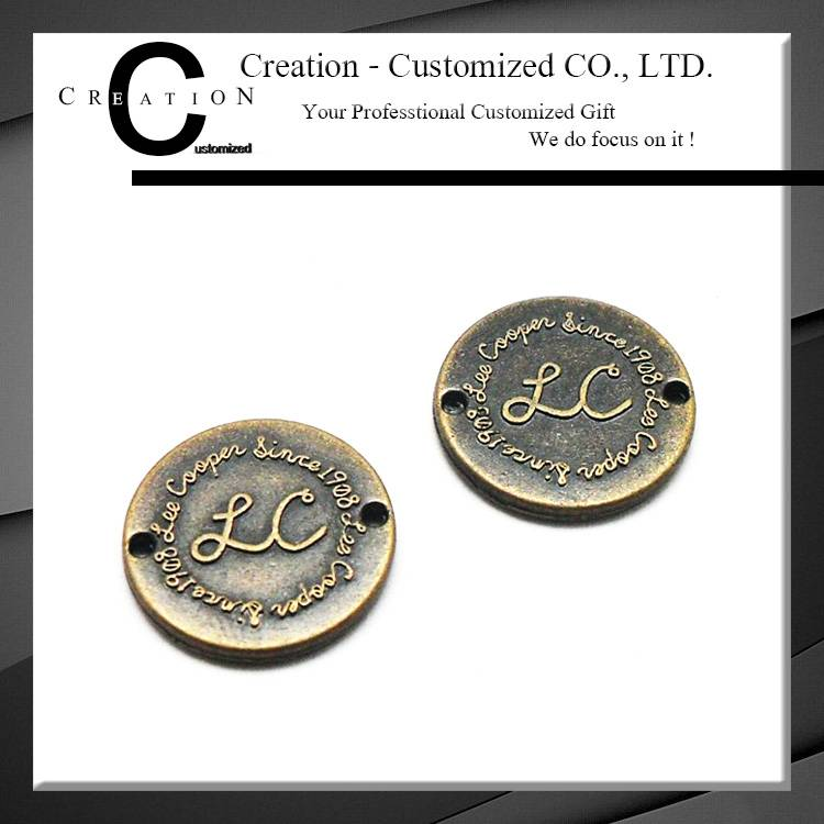 Embossed Round Small Elegant Nameplate with Customized