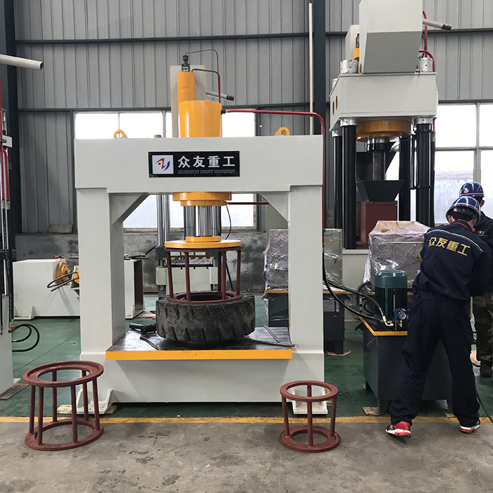 Forklift Solid Tire Tyre Hydraulic Press Machine 200 ton